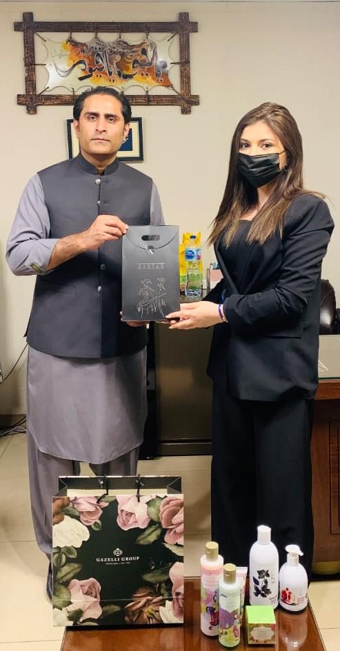 Waqar Zafar Bakhtawari with Mrs. Narmin Ismayilova